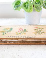 vintage-bloemenpers-hout-4
