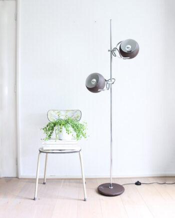 vintage bollenlamp Herda bruin