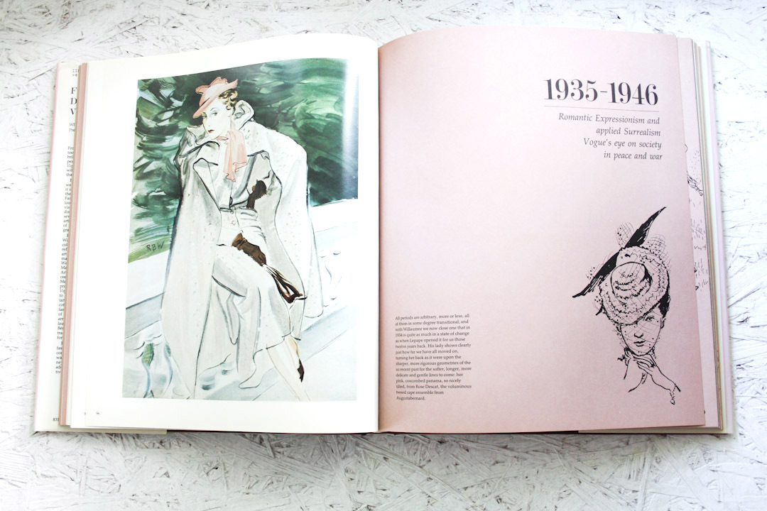 Fashion drawing in vogue book