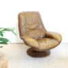 Vintage bruine leren fauteuil