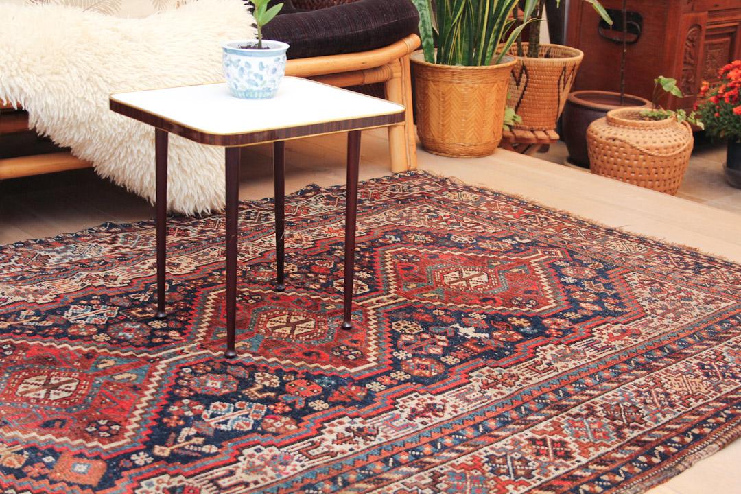 Perzisch Tapijt Blauw : Oosters tapijt bruin rood froufrous