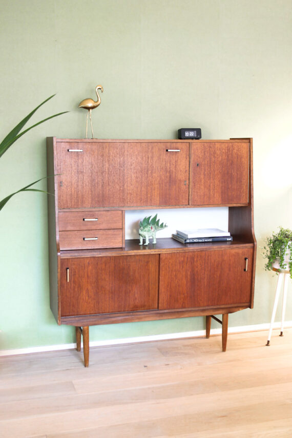 Sixties Vintage Highboard Kast