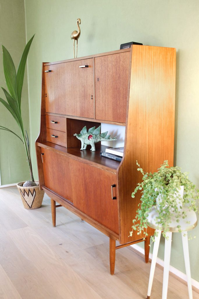 Sixties vintage highboard kast froufrou 39 s for Meubels vintage