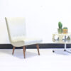 Creme witte vintage lounge chair