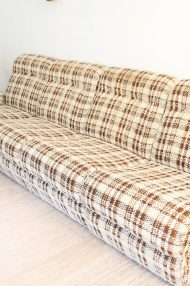 vintage-jaren-70-elementen-bank-bruin-wol-gemeleerd-fauteuils-11