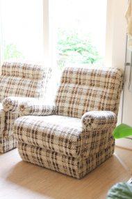 vintage-jaren-70-elementen-bank-bruin-wol-gemeleerd-fauteuils-5