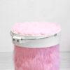 Vintage make-up tafel jaren 70 furry fluffy roze