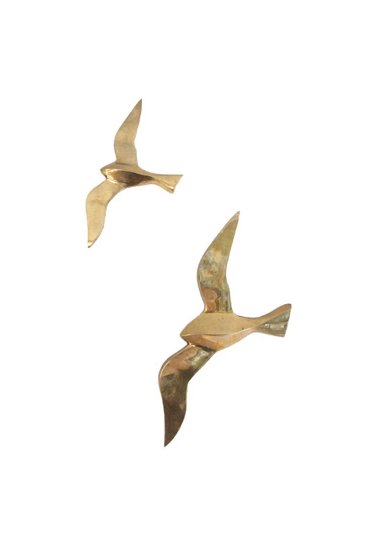 vintage messing vogels voor aan de wand froufrous