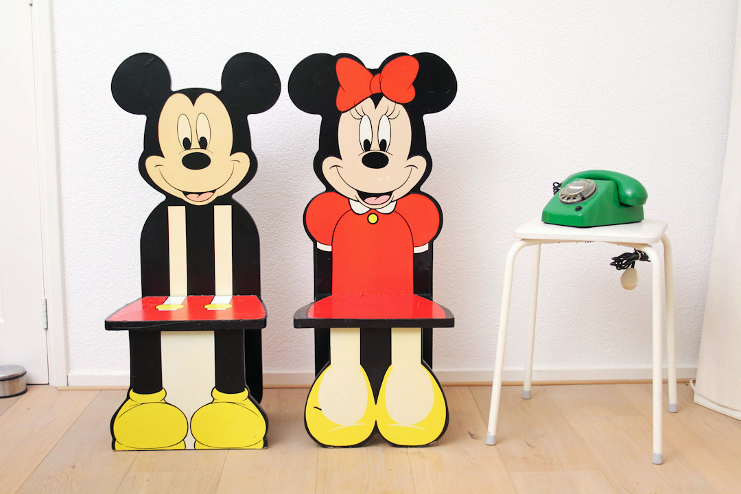 Extreem 90s Mickey en Minnie Mouse stoelen - Froufrou's #ZV71