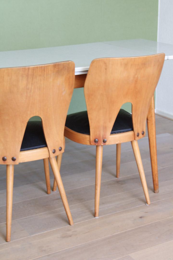 4x Oswald Haerdtl / Thonet stijl vintage eetkamerstoelen - Froufrou's