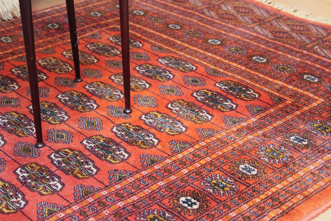Perzisch Tapijt Blauw : Vintage bokhara perzisch vloerkleed oranje rood 173 x 115 cm