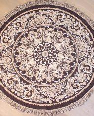 vintage-rond-kleed-tapijt-vloerkleed-tafelkleed-beige-bruin-5