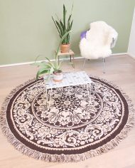 vintage-rond-kleed-tapijt-vloerkleed-tafelkleed-beige-bruin-7