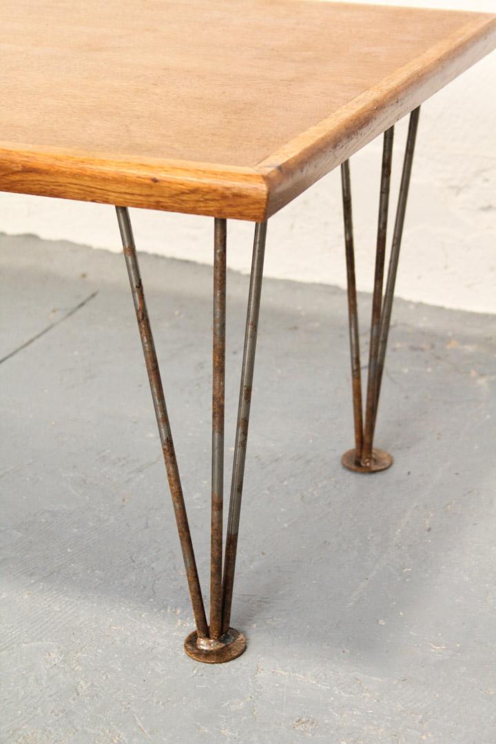 Tafel Met Hairpin Poten.Vintage Houten Salontafel Hairpin Legs Froufrou S