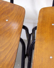 Vintage schoolstoelen