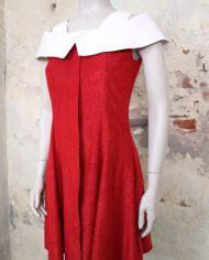 vintage-sixties-jurk-rood-wit-kraag-2