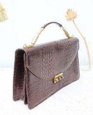 vintage-slangenleren-handtas-bruin-3