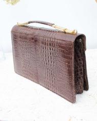 vintage-slangenleren-handtas-bruin-6