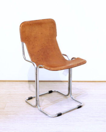 Leren vintage sling chair