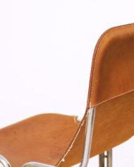 Buisframe Stoelen Vintage.Vintage Sling Chair Buisframe Stoel Cognac Leer