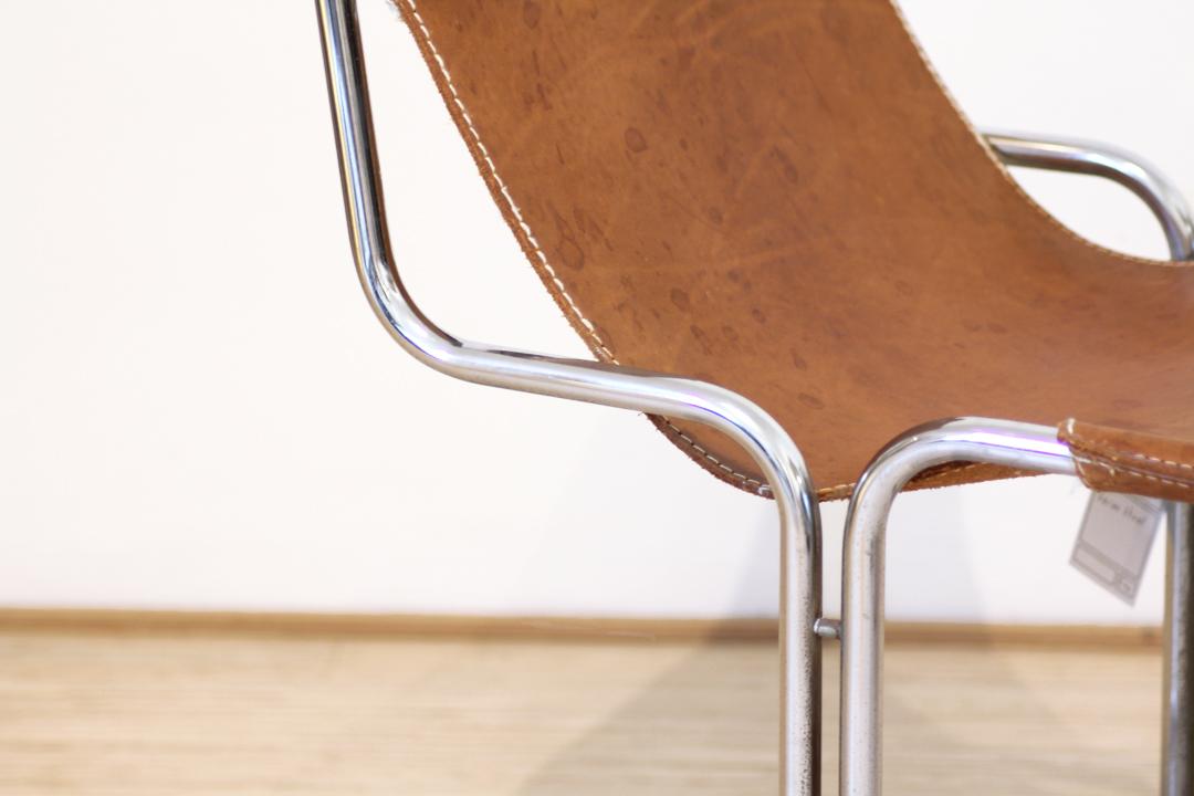 Leren Cognac Stoel.Vintage Sling Chair Buisframe Stoel Cognac Leer Froufrou S