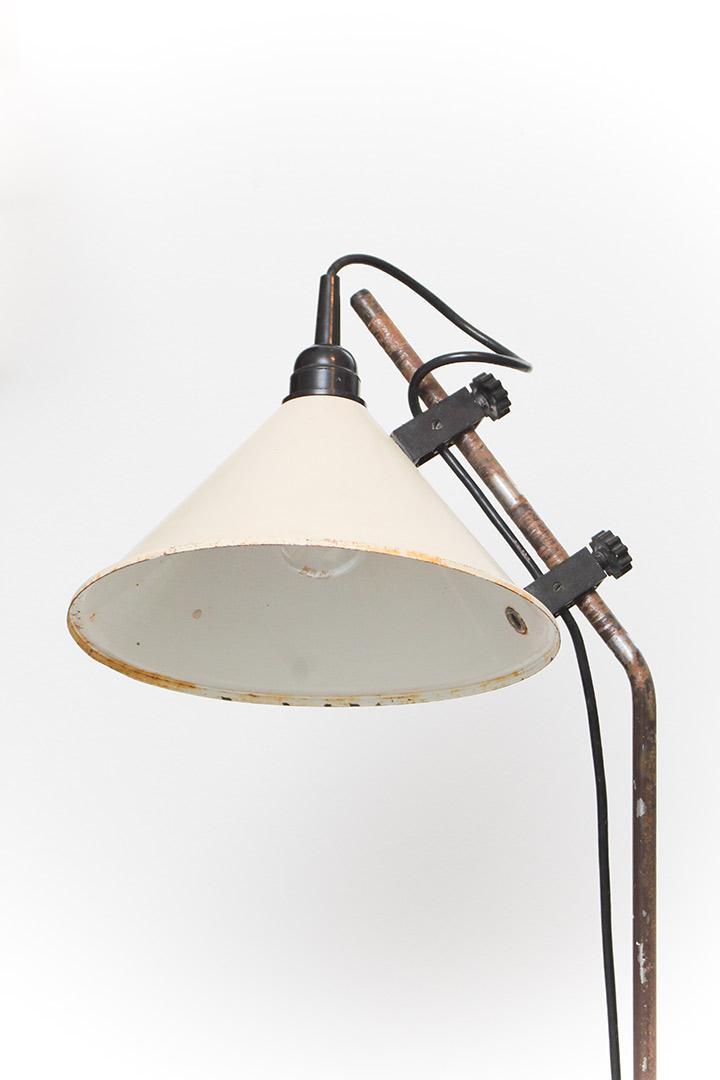 vintage staande leeslamp