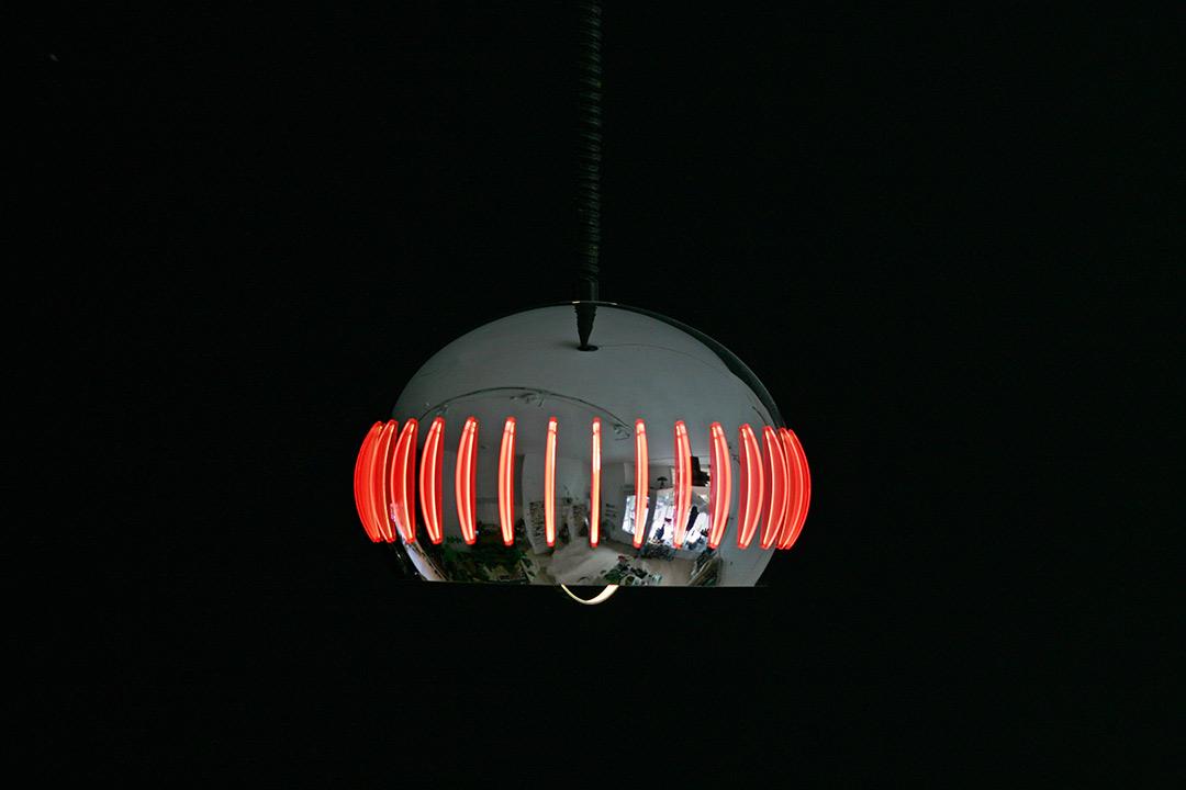 Vintage UFO hanglamp 70s