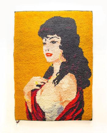 Vintage wandkleed zigeunerin 'Boobies'
