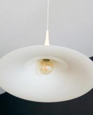 Vintage witte heksenhoed lamp 70s