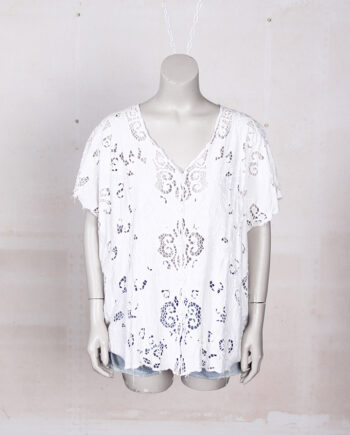 witte vintage kanten blouse