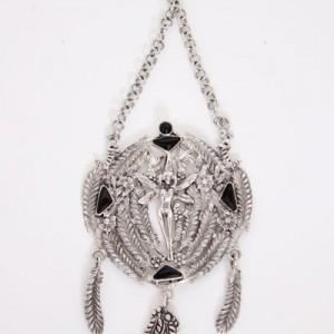 vintage-zilveren-hanger-ijslandse-elf-kat-veren-1