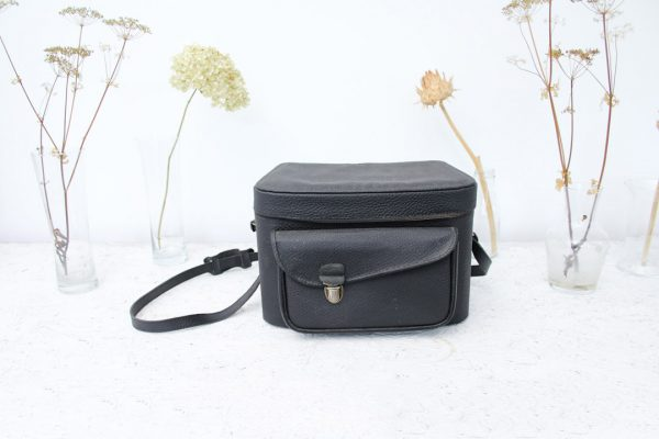zwarte camera tas