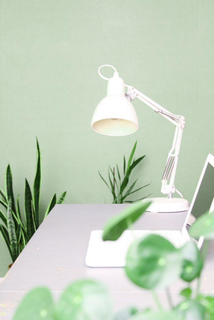 bureaulamp wit