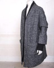 zwart-grijze-gemeleerde-oversized-wollen-winterjas-2
