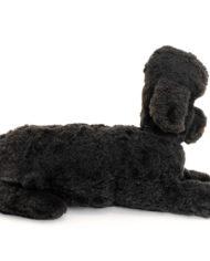 Zwarte vintage poedel knuffel